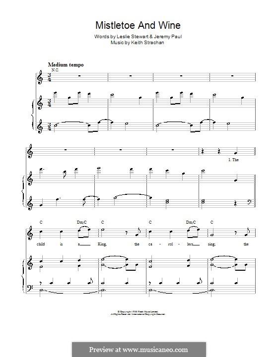 Mistletoe and Wine (Cliff Richard): Для голоса и фортепиано by Keith Strachan