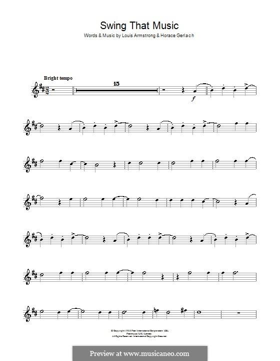 Swing That Music: Для тенорового саксофона by Horace Gerlach, Louis Armstrong