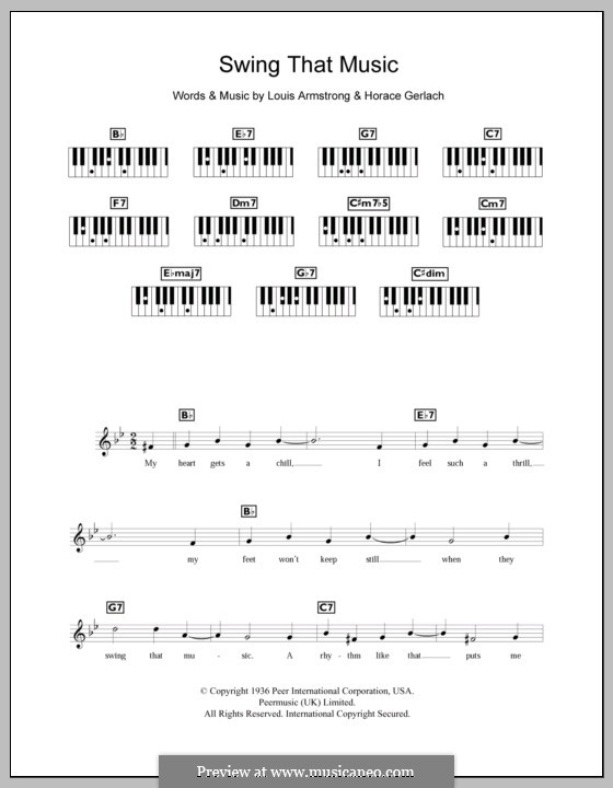 Swing That Music: Для клавишного инструмента by Horace Gerlach, Louis Armstrong