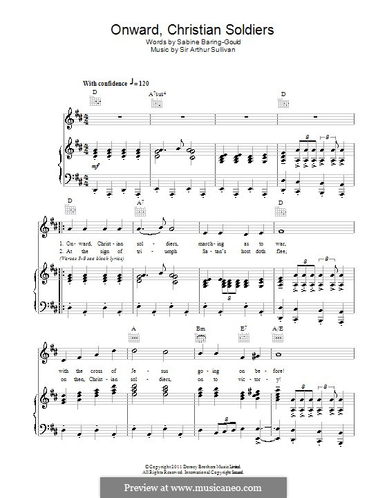 Onward, Christian Soldiers: Для голоса и фортепиано (или гитары) by Артур Салливан