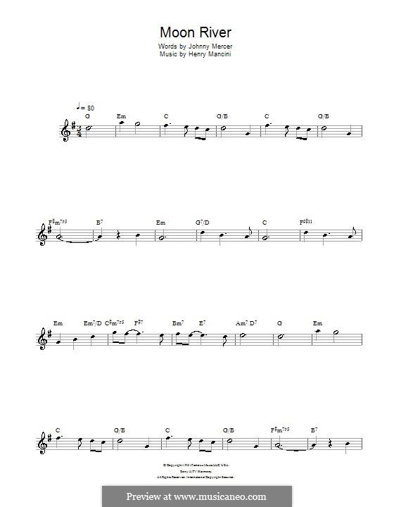 Лунная река (из фильма 'Завтрак у Тиффани'): Для флейты by Henry Mancini