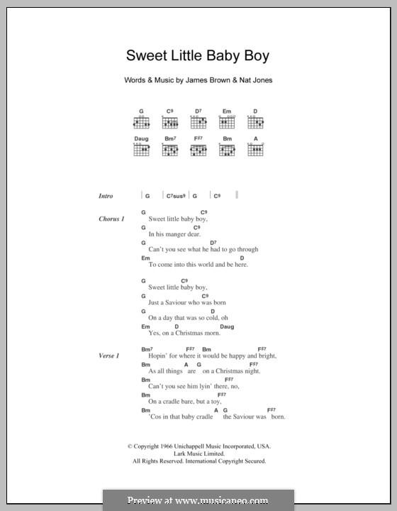 Sweet Little Baby Boy: Текст, аккорды by James Brown, Nat Jones