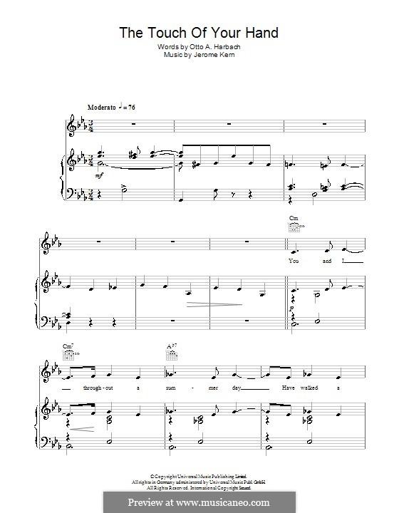 The Touch of Your Hand: Для голоса и фортепиано (или гитары) by Джером Керн
