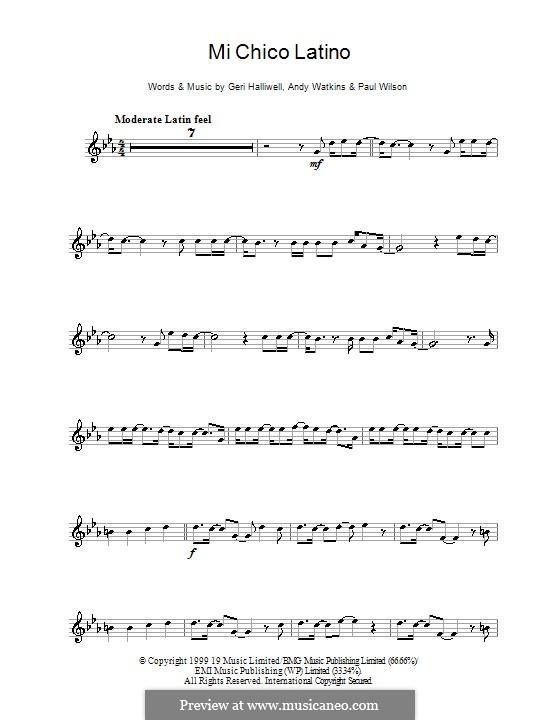 Mi Chico Latino: Для флейты by Andy Watkins, Geri Halliwell, Paul Wilson