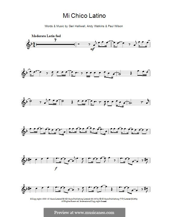 Mi Chico Latino: Для кларнета by Andy Watkins, Geri Halliwell, Paul Wilson