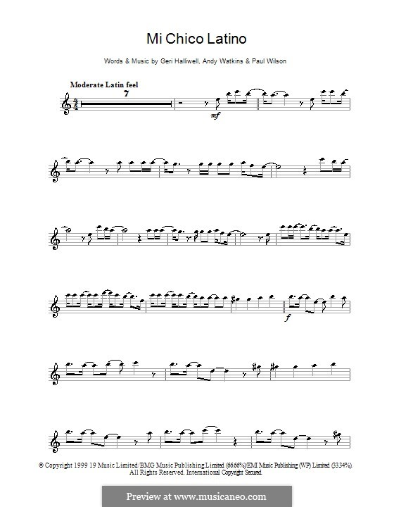 Mi Chico Latino: Для альтового саксофона by Andy Watkins, Geri Halliwell, Paul Wilson