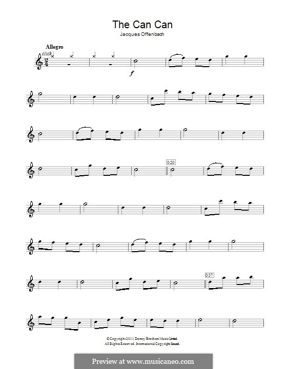 Канкан: Для флейты by Жак Оффенбах