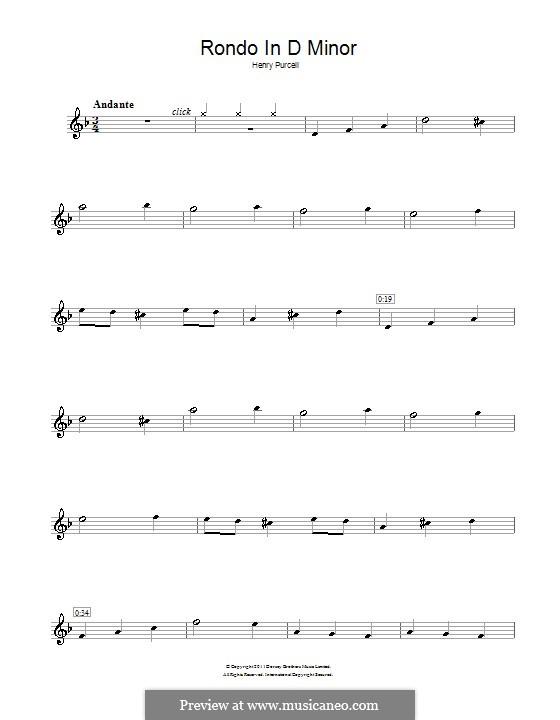 Абделазар, или Месть мавра: Рондо. Переложение для флейты by Генри Пёрсел