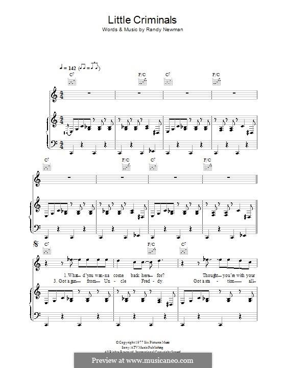 Little Criminals: Для голоса и фортепиано (или гитары) by Randy Newman