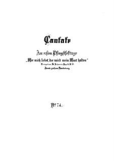 Wer mich liebet, der wird mein Wort halten, BWV 74: Партитура by Иоганн Себастьян Бах
