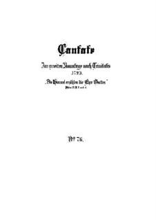 Die Himmel erzählen die Ehre Gottes, BWV 76: Партитура by Иоганн Себастьян Бах