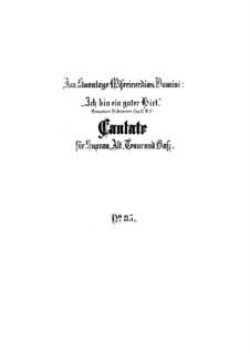 Ich bin ein guter Hirt, BWV 85: Партитура by Иоганн Себастьян Бах