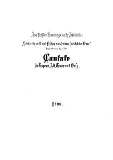 Siehe, ich will viel Fischer aussenden, BWV 88: Партитура by Иоганн Себастьян Бах