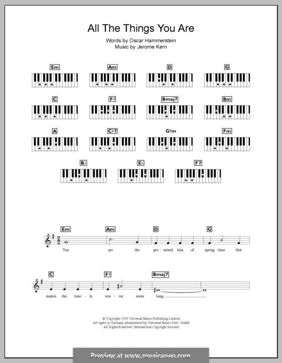 All the Things You are: Для клавишного инструмента by Джером Керн