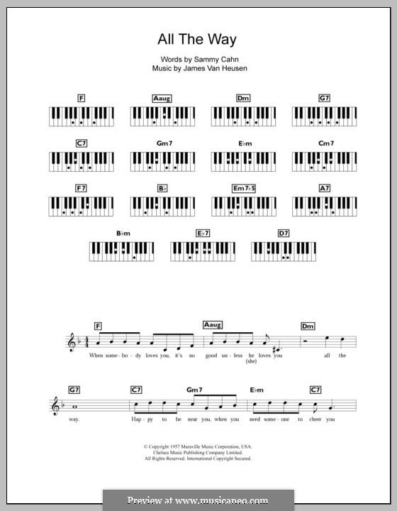 All the Way (Frank Sinatra): Для клавишного инструмента by Jimmy Van Heusen
