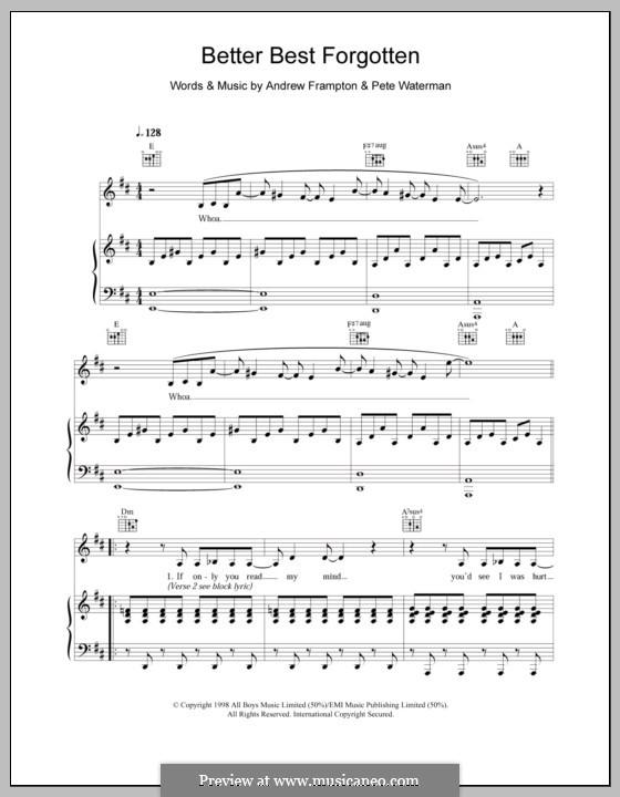 Better Best Forgotten (Steps): Для голоса и фортепиано (или гитары) by Andrew Frampton, Pete Waterman