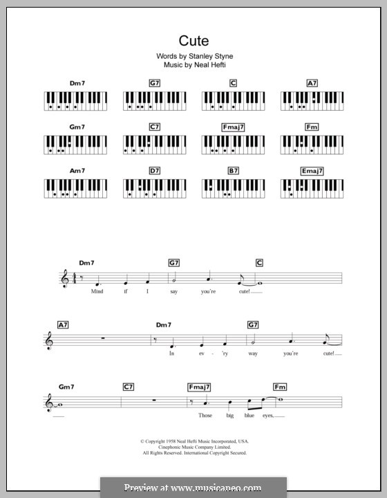 Cute: Для клавишного инструмента by Neal Hefti