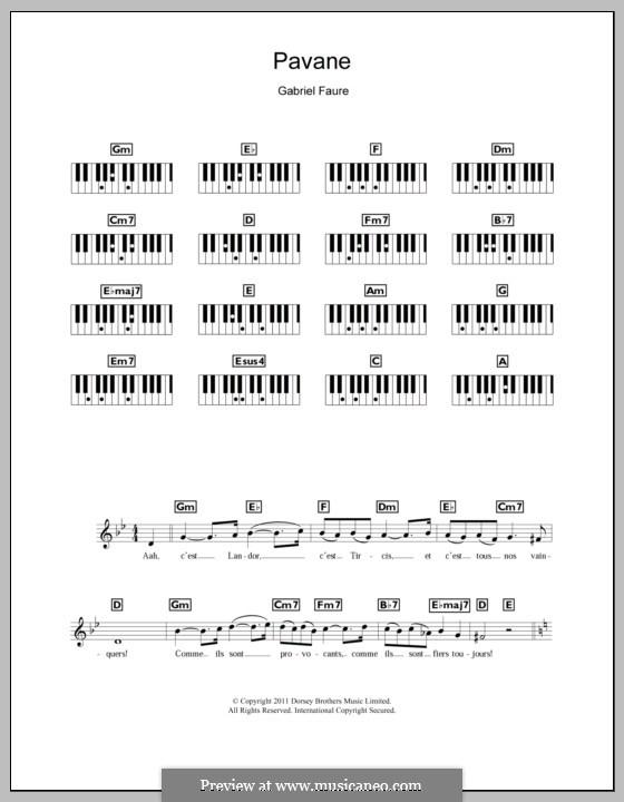 Павана, Op.50: Для клавишного инструмента by Габриэль Форе