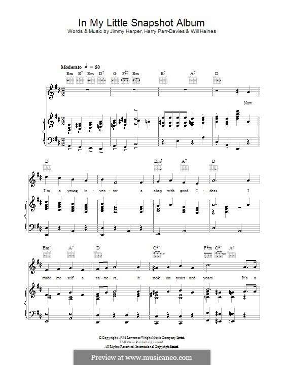 In My Little Snapshot Album (George Formby): Для голоса и фортепиано (или гитары) by Harry Parr-Davies, Will E. Haines