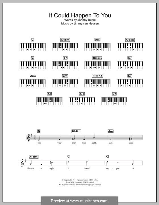 It Could Happen to You: Для клавишного инструмента by Jimmy Van Heusen