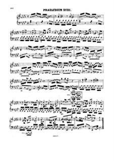 Прелюдия и фуга No.18 соль-диез минор, BWV 887: Для одного исполнителя by Иоганн Себастьян Бах