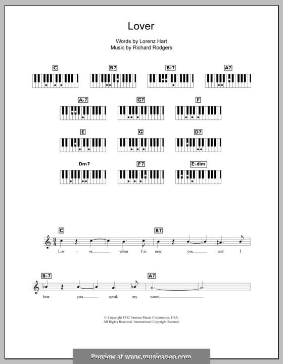 Lover: Для клавишного инструмента by Richard Rodgers