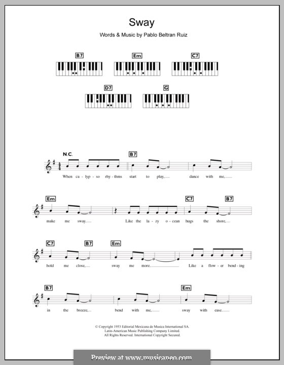 Sway (Quien Sera): Для клавишного инструмента by Pablo Beltran Ruiz