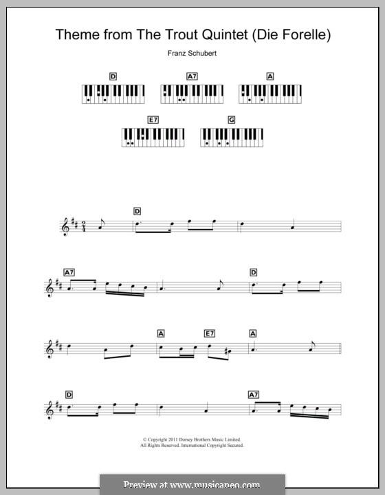 Квинтет для струнных и фортепиано 'Форель', D.667 Op.114: Часть IV (Тема). Версия для клавишного инструмента by Франц Шуберт