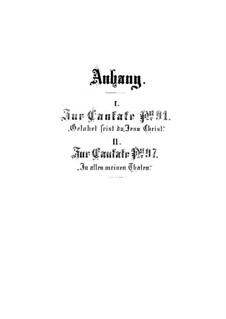 Приложения к кантатам, BWV 91, 97: Приложения к кантатам by Иоганн Себастьян Бах