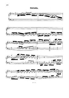 Токката до минор, BWV 911: Для клавесина by Иоганн Себастьян Бах