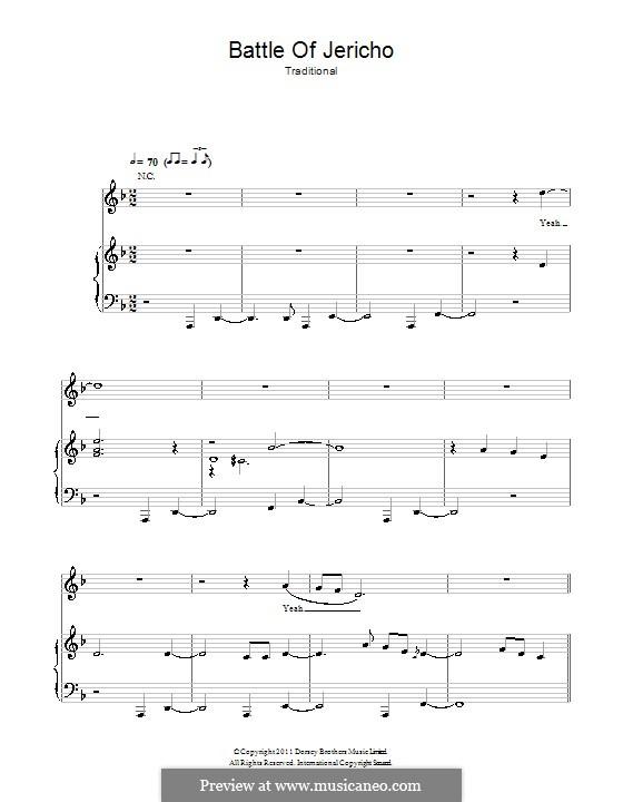 Joshua Fit de Battle ob Jericho (Joshua Fit the Battle): Для голоса и фортепиано (или гитары) by folklore