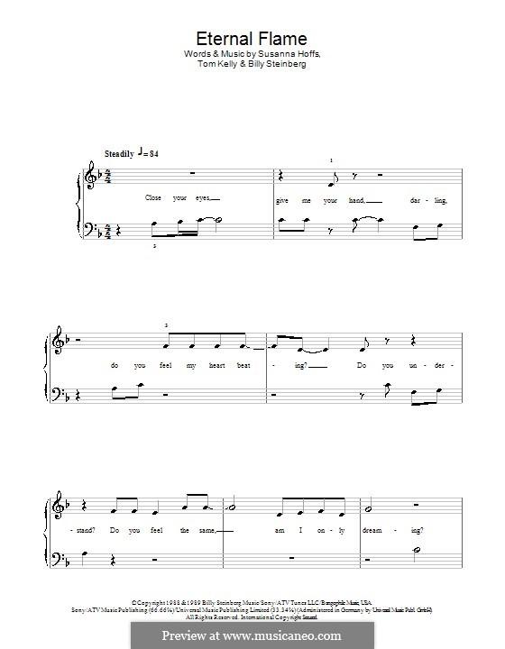 Eternal Flame: Для фортепиано (легкий уровень) by Billy Steinberg, Susanna Hoffs, Tom Kelly