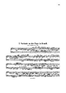 Фуга си минор, BWV 951a: Фуга си минор by Иоганн Себастьян Бах