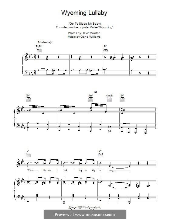 Wyoming Lullaby: Для голоса и фортепиано (или гитары) by Gene Williams