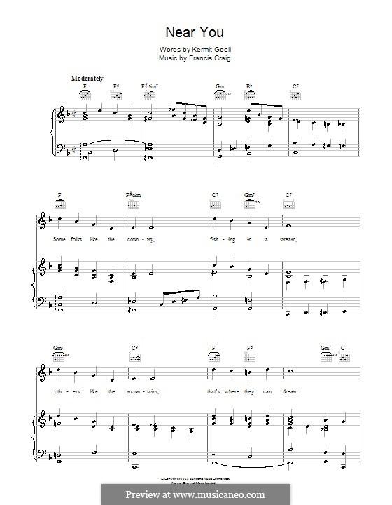 Near You: Для голоса и фортепиано (или гитары) by Francis Craig