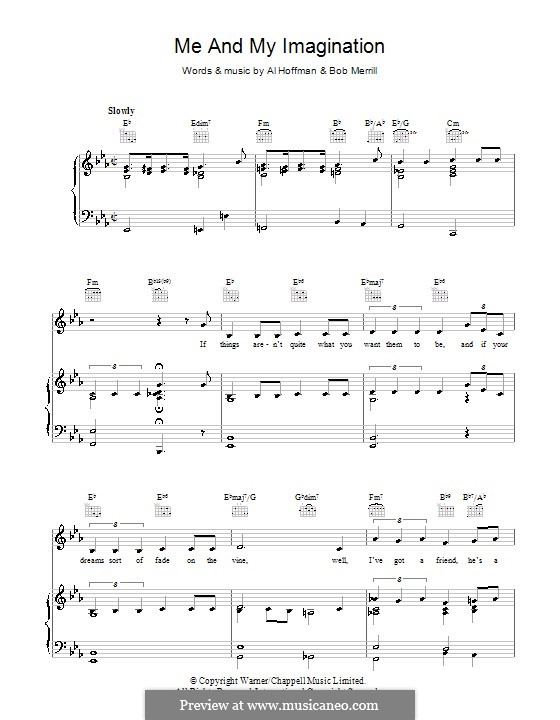 Me and My Imagination: Для голоса и фортепиано (или гитары) by Al Hoffman, Bob Merrill