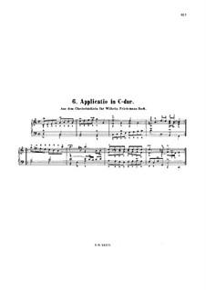 Аппликация до мажор, BWV 994: Для клавесина by Иоганн Себастьян Бах