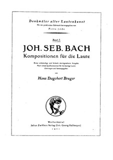 Произведения для лютни соло, BWV 995-1000: Произведения для лютни соло by Иоганн Себастьян Бах