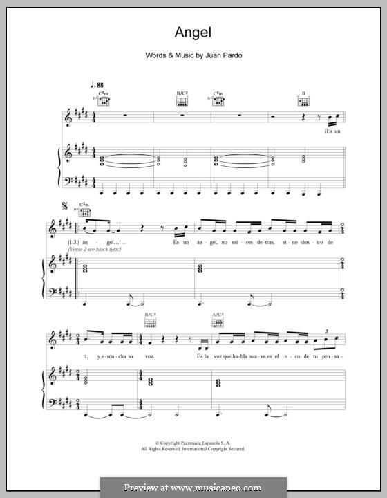 Angel: Для голоса и фортепиано (или гитары) by Juan Pardo