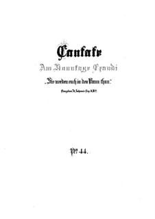 Sie werden euch in den Bann tun, BWV 44: Партитура by Иоганн Себастьян Бах