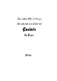Ich weiss, dass mein Erlöser lebt, BWV 160: Партитура by Иоганн Себастьян Бах