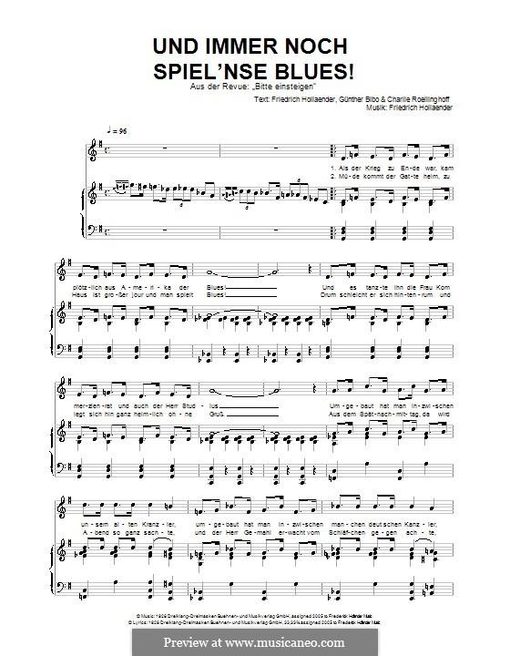 Und immer noch Spiel'nse Blues!: Для голоса и фортепиано by Friedrich Holländer