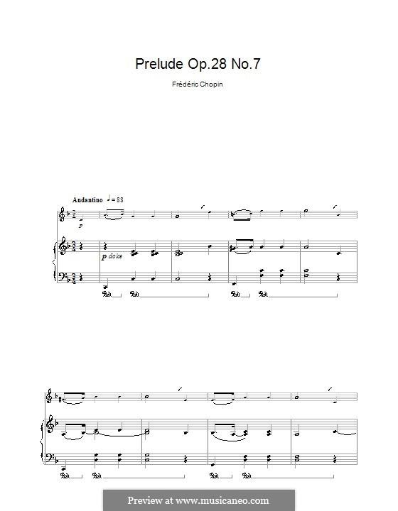 No.7 ля мажор: Для кларнета и фортепиано by Фредерик Шопен
