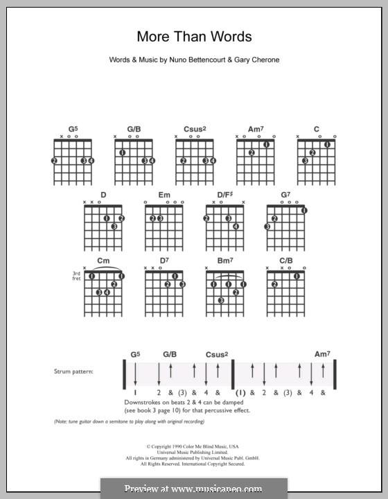 More Than Words (Extreme): Для гитары by Gary Cherone, Nuno Bettencourt