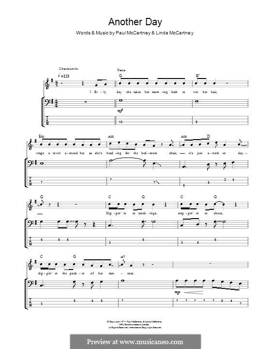 Another Day: Для бас-гитары с табулатурой by Linda McCartney, Paul McCartney