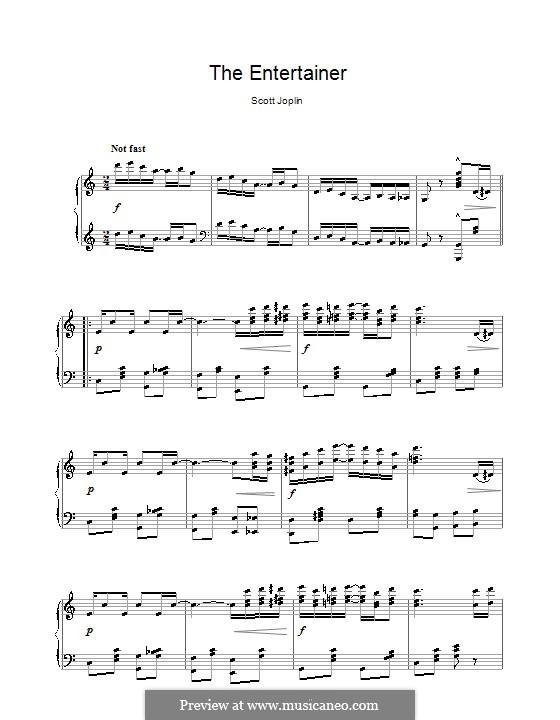 The Entertainer, for Piano: Высококачественные ноты by Скотт Джоплин