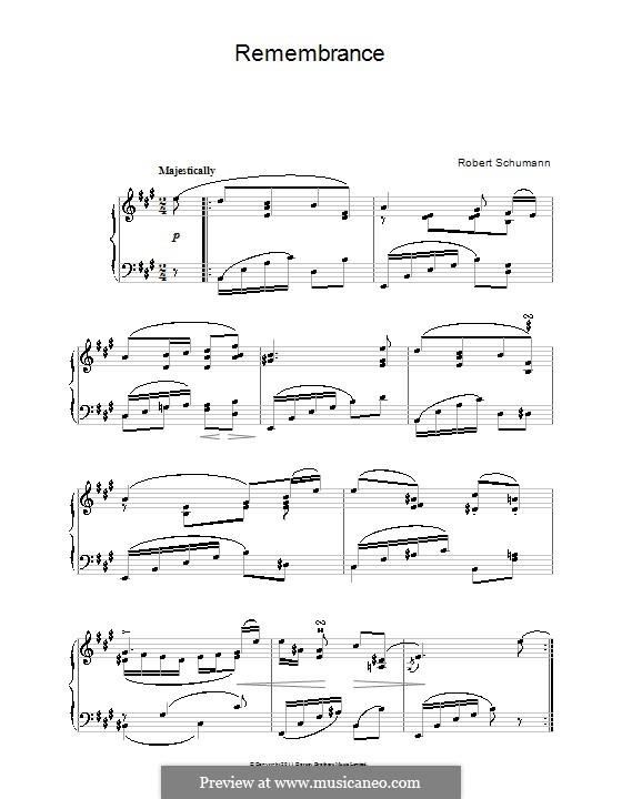 No.28 Воспоминание: Для фортепиано by Роберт Шуман