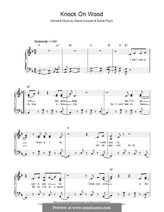 Knock on Wood: Для голоса и фортепиано by Eddie Floyd, Steve Cropper