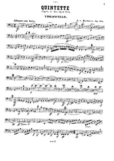 Струнный квинтет No.3 до минор, Op.104: Партия виолончели by Людвиг ван Бетховен