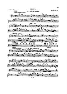 Шесть тем с вариациями, Op.105: Партия флейты (Тетрадь II) by Людвиг ван Бетховен